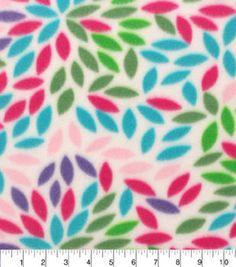 """Blizzard Fleece Fabric 59""""-Multi Color Bursts"""