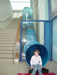 WANT THIS!!! either going outside or down stairs Worlds of Wow Blog: Super Fun Slide