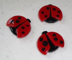 Ladybugs- Fused Glass (3 each)