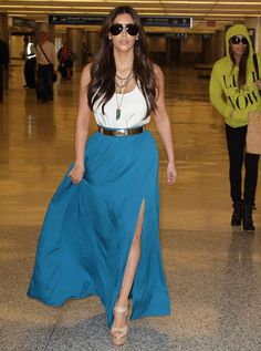 Hate her or Love her...Kim K has some great fashion hits...this IS perfect airport style, IMHO