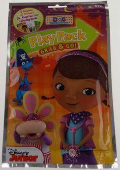 Set 12 Disney Junior Doc McStuffins Play Pack Grab & Go Coloring Book Crayons
