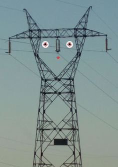 I have always called these massive power line towers monsters. Now they will creep me out even more!!