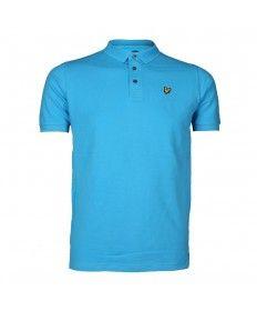 018808a0f06 Junior Lyle   Scott Bright Cyan Short Sleeve Polo Shirt