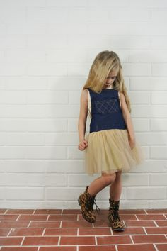 Ivory Tutu Denim Overall Dress (Toddler, Little Girls, & Big Girls) on HauteLook