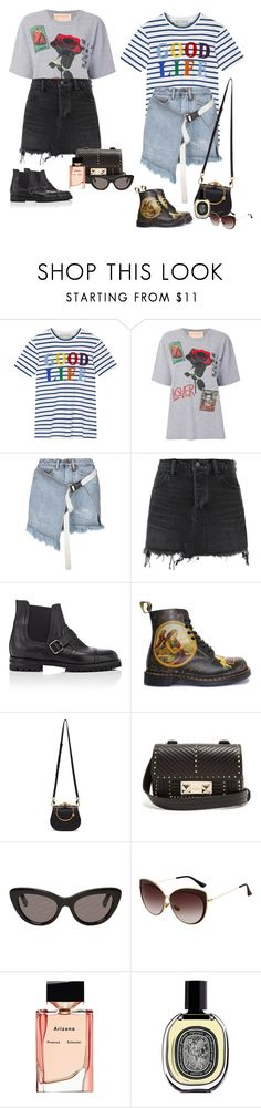 """""""Good life"""" by audrey-balt ❤ liked on Polyvore featuring Être Cécile, NIGHTMARKET, Palm Angels, Alexander Wang, Manolo Blahnik, Dr. Martens, Chloé, Valentino, Balenciaga and Proenza Schouler"""