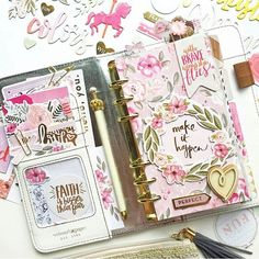 All the for this pretty planner by @littleblossem using @pinkpaislee Take Me Away!!