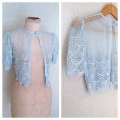 1980s Lace Jacket // Vintage 80s Bridal by HoneyBlossomVintage