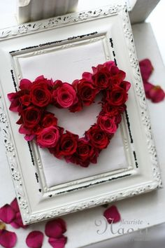 Red rose heart!