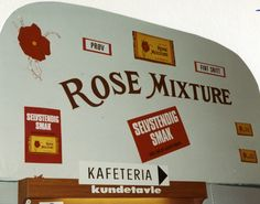Reklame for Rose Mixture på Manglerud Super i Oslo