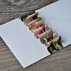 Recycle magazines into ruffles for envelopes, packages and more. Quick and easy tutorial for the most sewing averse!