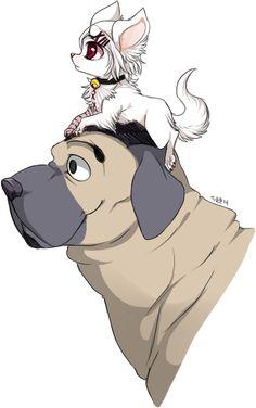 Suzuya Juuzo and Shinohara Yukinori ||| Tokyo Ghoul Dog AU Fan Art by poochiena on Tumblr