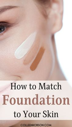 The best foundation matching tips to help you find your closest shade match. Find Your Foundation Shade, How To Match Foundation, Foundation Colors, Perfect Foundation, How To Use Makeup, Makeup Tips For Older Women, Makeup Tips Foundation, Putting On Makeup, Makeup Tips For Beginners