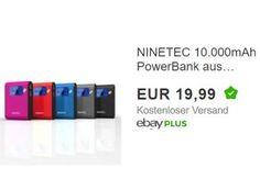 Ebay: Powerbank Ninetec NT565 für 19,99 Euro frei Haus https://www.discountfan.de/artikel/technik_und_haushalt/ebay-powerbank-ninetec-nt565-fuer-19-99-euro-frei-haus.php Bei Ebay ist für einen Tag die Powerbank Ninetec NT565 zum Schnäppchenpreis von 19,99 Euro mit Versand zu haben. Andere Onlineshops verlangen für den mobilen Handy-Akku mindestens zehn Euro mehr. Ebay: Powerbank Ninetec NT565 für 19,99 Euro frei Haus (Bild: Ebay.de) Die Powerbank Ninetec NT565 fü...