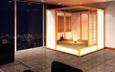 Indoor private meditation room