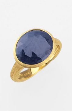 Faceted Sapphire Ring