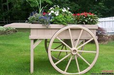 Peddler's flower cart.