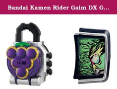 Bandai Kamen Rider Gaim DX Grape Lock Seed Kamen Rider Ryugen Set. DX grape rock seed and a set of Dragon Xface Faceplate that you can enjoy Chinese style transformation sound when you replace it with a battle pole driver (optional). Batteries used: LR44 x 3 (included) Amazon.co.jp Items for sale will be excluded from the Yanbun Face Plate campaign. (From Amazon.co.jp).