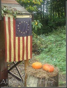 All Roads Lead Home... Patriotic autumn