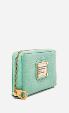 Marc by Marc Jacobs Classic Q Slim Zip Around in Minty