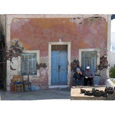 Island, Greece Santorini Greek Island Couple Old C Greek Island Tours, Greek Islands, Most Beautiful Greek Island, Old Wall, Santorini Greece, Greece Travel, Places, Painting, Couple
