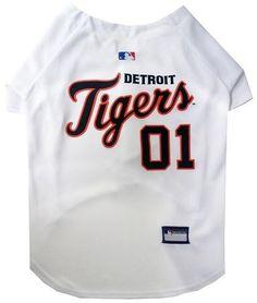 Detroit Tigers Baseball Dog Jersey Large