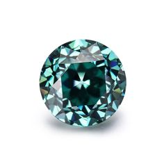 Loose Moissanite Vivid Blue Round Diamond Lab Created 7.00 MM Best For Jewelry