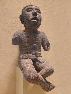 Male Figure Aztec Central Mexico Stone 1400-1521 CE