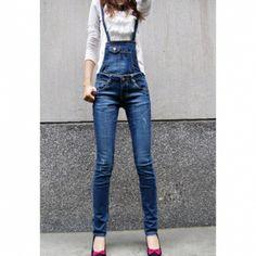Stylish Women Fit adelgaza desmontables Ripped jeans Suspender para Vender - La Tienda En Online IGOGO.ES