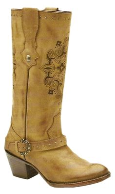Corral Boots ~ Ladies Tan Mesquite Laser Harness C2219