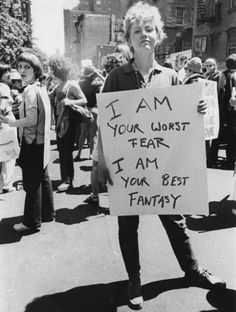 powerful women are your worst fear and your best fantasy. New York, 1970