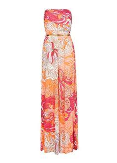 MANGO - Strapless printed gown
