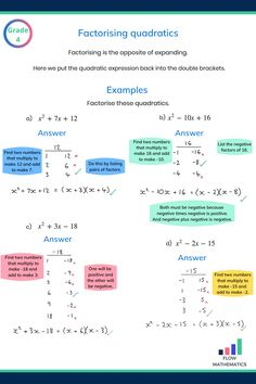 Gcse Maths Revision, Gre Math, Algebra Worksheets, Maths Solutions, Math Notes, Math Formulas, School Study Tips, Math Notebooks, Homeschool Math