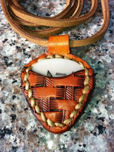Pick Pocket Pendant   Handmade Leather Necklace for by MaskCraft, $25.00