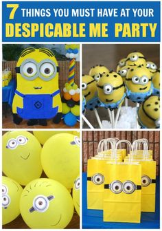 7 must-have party ideas for your Despicable Me birthday party! See more party ideas at CatchMyParty.com. #despicableme #partyideas