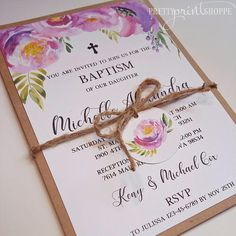 First communion invitation baptism inivtation christening