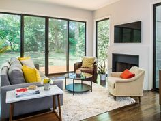 Designer Short-Cuts with the Biggest Impact | HGTV >> http://www.hgtv.com/design/rooms/living-and-dining-rooms/designer-short-cuts-with-the-biggest-impact-pictures?soc=pinterest