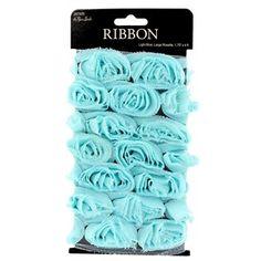 Light Blue Rosette Trim Ribbon
