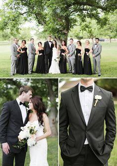 black and grey wedding party attire @weddingchicks