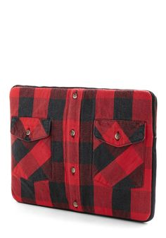 Roll Up Your Laptop Sleeve. Whether you work with lumber on a daily basis, or whittle away the hours in front of a computer screen, you work hard! #red #modcloth