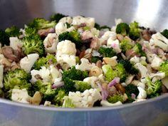 Low Carb Broccoli-Cauliflower Salad! - The College Money Mom