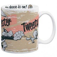 Looney Tunes Granny Tweety Chase Coffee Mug
