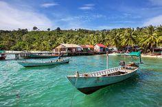 Boats at Kep, Cambodia