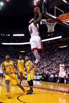 a69e80d17abb lebron james jumps high dunk American Sports