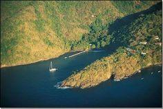 L'Anse Noire vue du ciel - Martinique