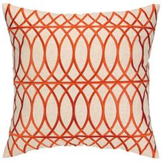 DL Rhein Loop de Loop Orange Embroidered Pillow  #lgpintowin