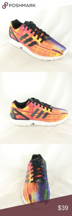 Like New ADIDAS ZX FLUX  Mens Training Sneakers Like new condition lightweight training sneakers with limited edition print. Great sole support, very comfortable trainers. Upper is MINT at 10/10 condition and sole is 9.5/10 with almost no visible wear.  Size 12 adidas Shoes Athletic Shoes