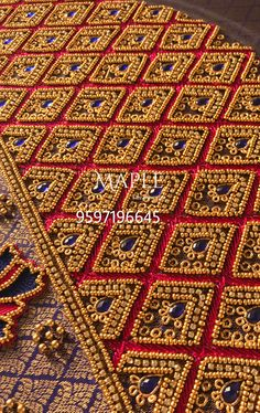 Saree Jacket Designs, Wedding Saree Blouse Designs, Fancy Blouse Designs, Blouse Neck Designs, Hand Work Blouse Design, Hand Work Design, Sleeves Designs For Dresses, Sleeve Designs, Maggam Work Designs