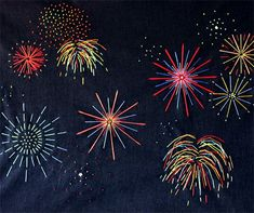 Great to use with DoSensePro CHALK MARKERS. Get now on Sale!!! 10 color Chalk Markers set including 2 whites + a GIFT of 32 Label Stickers. http://www.amazon.com/dp/B0187DKT6Q Inside My Hideaway: Indoor Fireworks - these are actually photographs but wouldn't they be great embroidery patterns for sweaters!