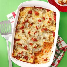 Sausage Ravioli Lasagna Recipe - This is so yummy!