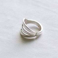 Fork ring from silverplated silverware